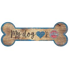 Detroit Pistons Dog Bone Wall Sign