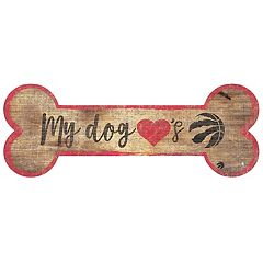 Toronto Raptors Dog Bone Wall Sign