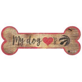 Toronto Raptors Dog Bone Wall Sign