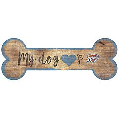 Oklahoma City Thunder Dog Bone Wall Sign