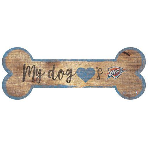 Oklahoma City Thunder Dog Bone Wall Sign