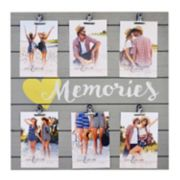 "New View ""Memories"" 6-Opening Photo Clip Fashion Collage Frame"