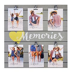 New View 'Memories' 6-Opening Photo Clip Fashion Collage Frame