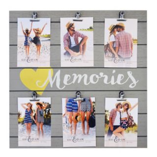"""New View """"Memories"""" 6-Opening Photo Clip Fashion Collage Frame"""