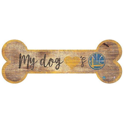 Golden State Warriors Dog Bone Wall Sign