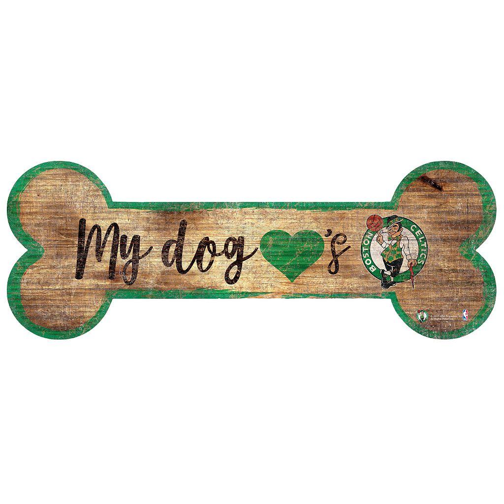 Boston Celtics Dog Bone Wall Sign