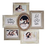 New View Rustic Shabby Chic 6-Opening Collage Frame