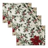 The Big One® Poinsettia Print Placemat 4-pk.