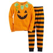 Girls 4-8 Jellifish Halloween Graphic Top & Bottoms Pajama Set
