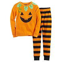 Girls 4-8 Jellifish Halloween Graphic Top & Bottoms Pajama Set