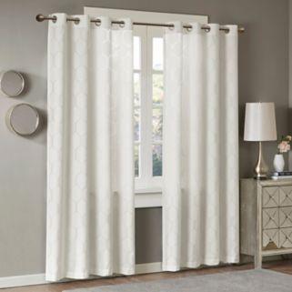Madison Park Cabot Semi Sheer Jacquard Window Curtain