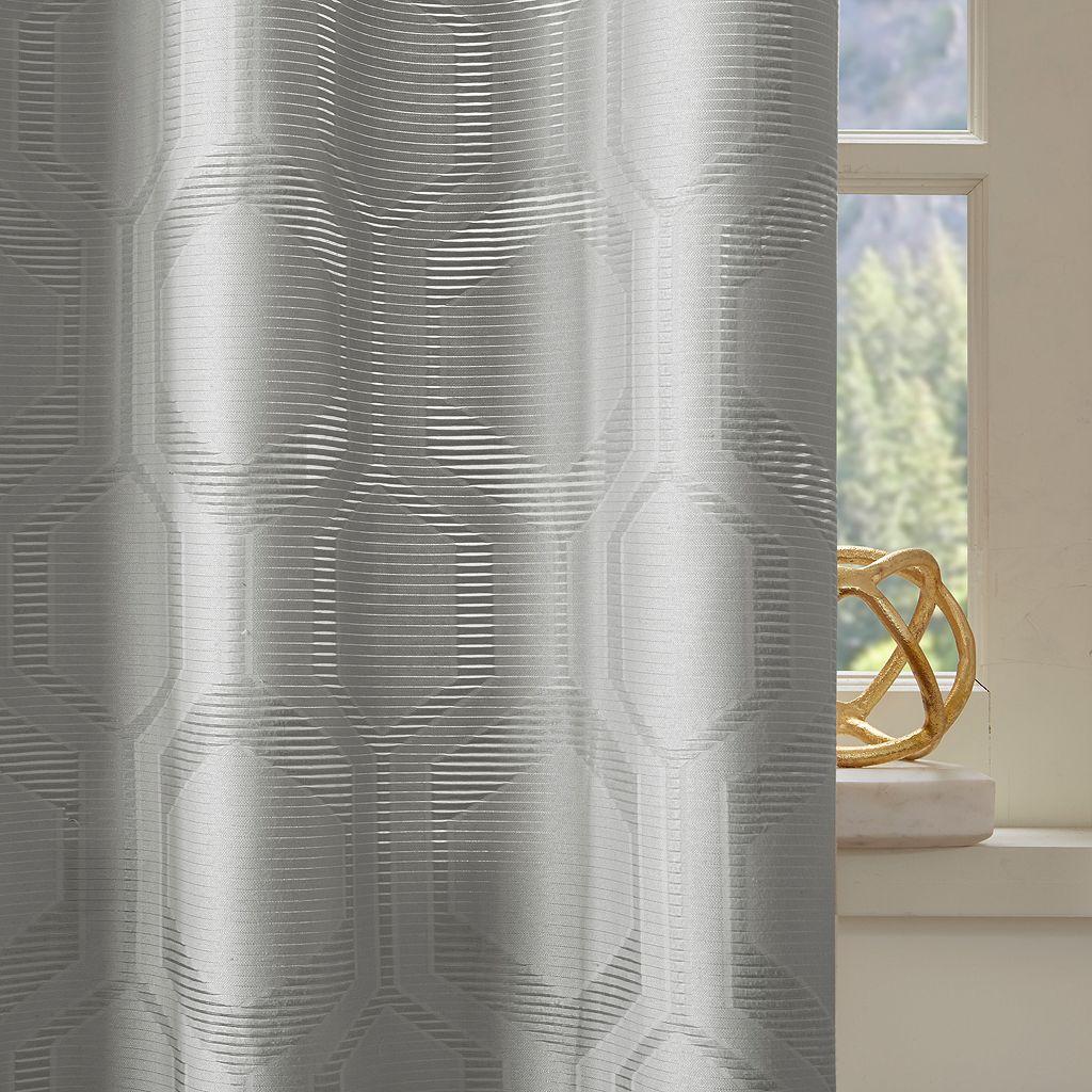 Madison Park Cabot Semi Sheer Jacquard Curtain