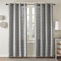 Madison Park Cabot Semi Sheer Jacquard Curtain