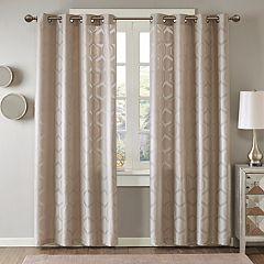 Madison Park 1-Panel Cabot Semi Sheer Jacquard Window Curtain