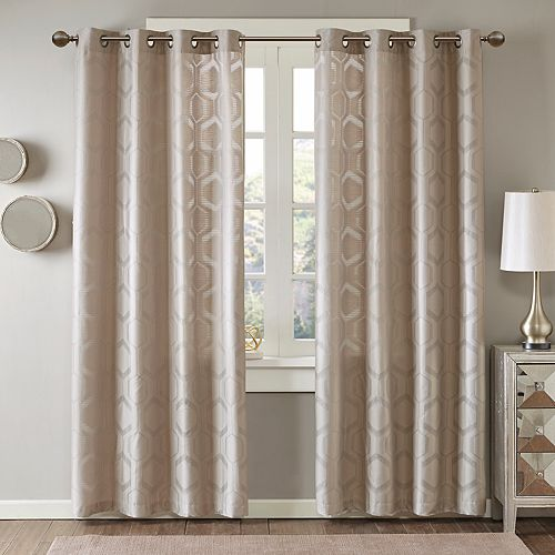 Madison Park 1-Panel Cabot Semi Sheer Jacquard Window Curtain