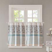 Madison Park Vanessa Tier Kitchen Window Curtain Set