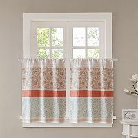 Madison Park Vanessa Tier Kitchen Window Curtain Set