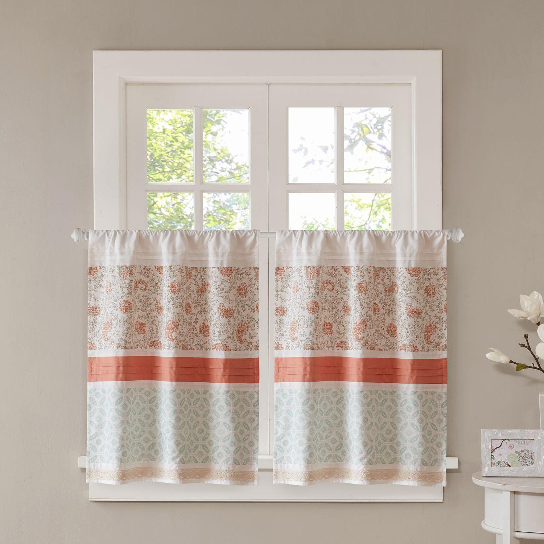Charmant Madison Park Vanessa Tier Kitchen Window Curtain Set