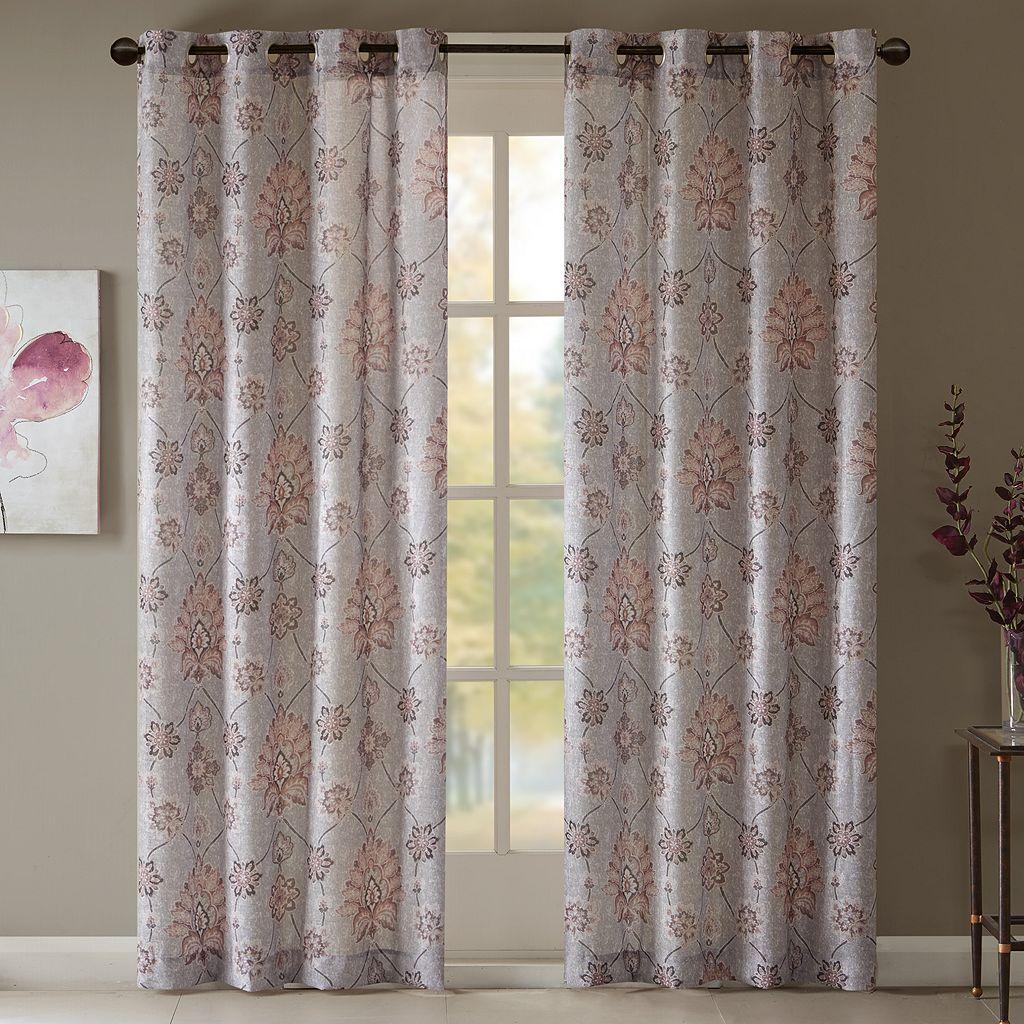 Madison Park Amber Textured Curtain