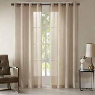 Madison Park Teagan Metallic Window Curtain