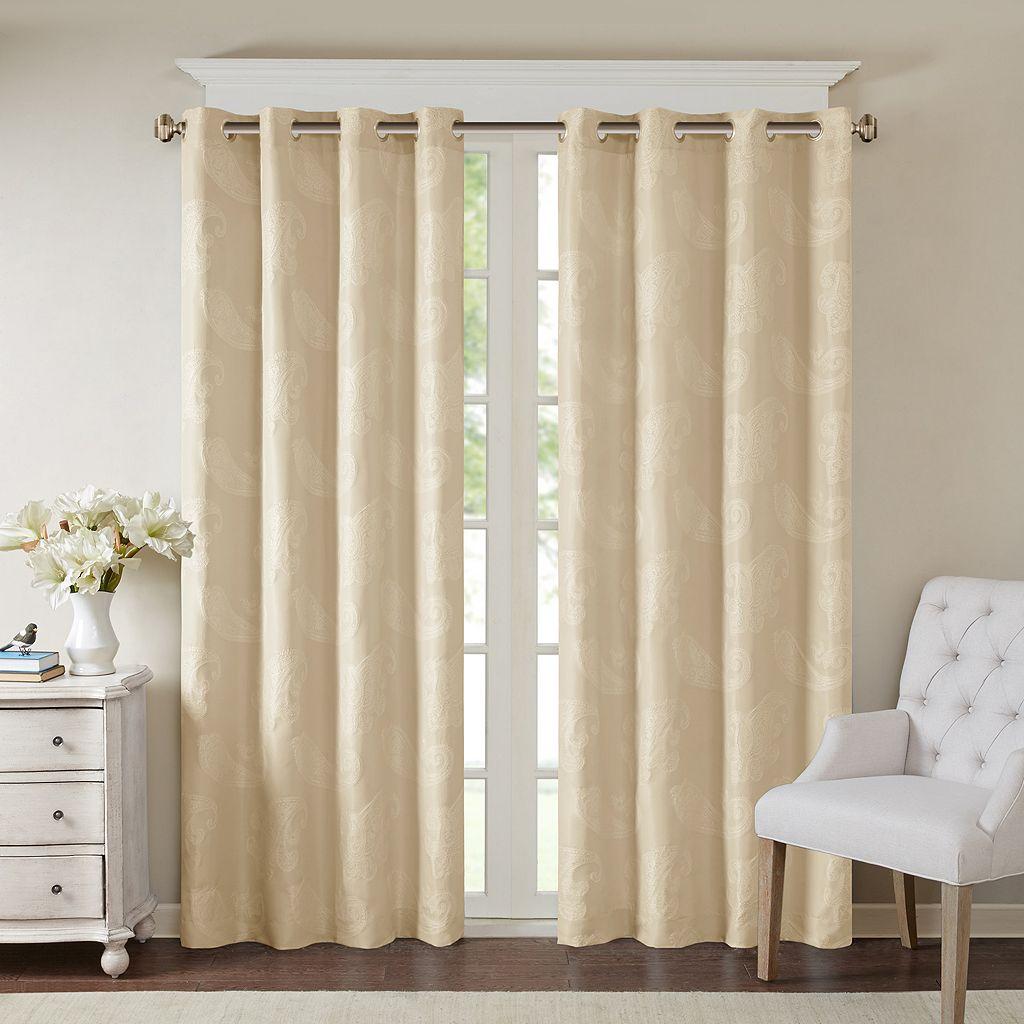 Madison Park Colette Paisley Jacquard Curtain