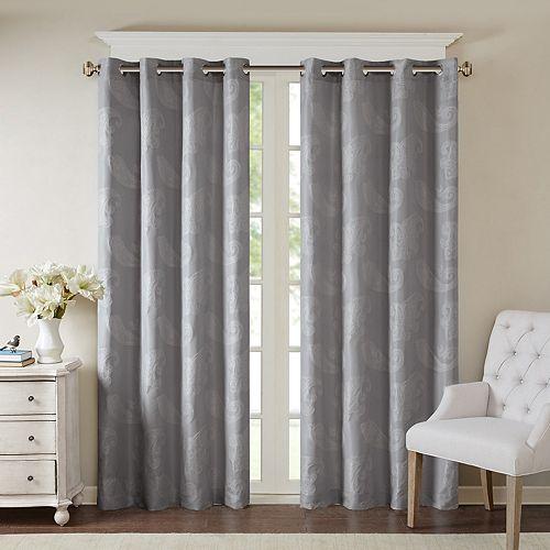 Madison Park 1-Panel Colette Paisley Jacquard Window Curtain
