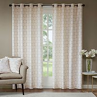Madison Park Callista Metallic Faux Silk Window Curtain