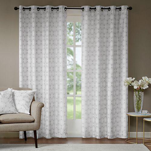 Madison Park Callista Metallic Faux Silk Window Curtain