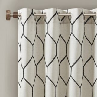 Madison Park Asher Metallic Embroidered Window Curtain