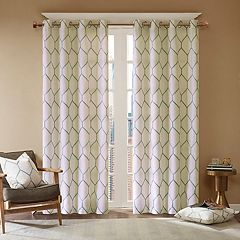 Madison Park 1-Panel Asher Metallic Embroidered Window Curtain