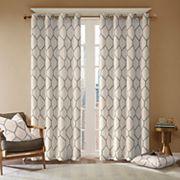 Madison Park Asher Metallic Embroidered Window Curtain