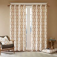 Madison Park Asher Metallic Embroidered Curtain