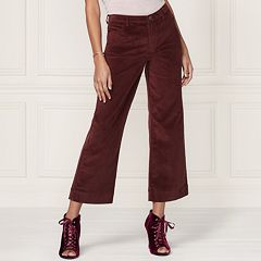 LC Lauren Conrad Runway Collection Wide-Leg Ankle Corduroy Pants - Women's