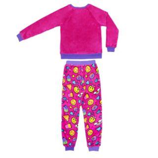 Girls 4-16 Jellifish Fleece Graphic Top & Bottoms Pajama Set