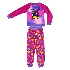 Sleepwear Well-Educated Zoofleece Pink No Prob Llama Print Girls Kids Pajama Pj Fleece Shirt Pants Set