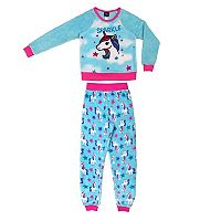 Girls 4-16 Jellifish Fleece Graphic Top & Bottoms Pajama Set