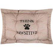 Park B. Smith Metro Farmhouse ''Pawsitive'' Nappy Pet Futon Pillow