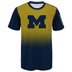 Boys 4-7 Michigan Wolverines Bitmapped Dri-Tek Tee