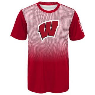 Boys 4-7 Wisconsin Badgers Bitmapped Dri-Tek Tee