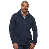 Big & Tall SONOMA Goods for Life™ Classic-Fit Fleece Shawl-Collar Cardigan Sweater