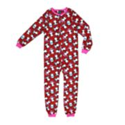 Girls 4-16 Jellifish Patterned Blanket Sleeper One-Piece Pajamas