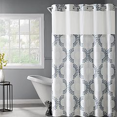 Hookless Stamped Gate Shower Curtain & Snap-In Liner