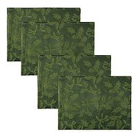 The Big One® Green Holly Placemat 4-pk.