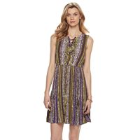 Women's Dana Buchman Printed Lace-Up Dress