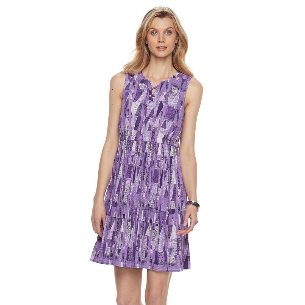 Women's Dana Buchman Printed Lace-Up Dress