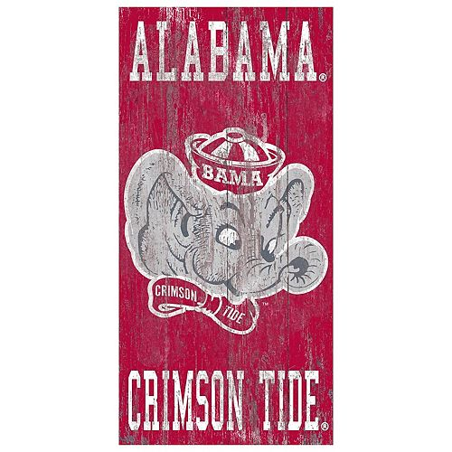 Alabama Crimson Tide Heritage Logo Wall Sign