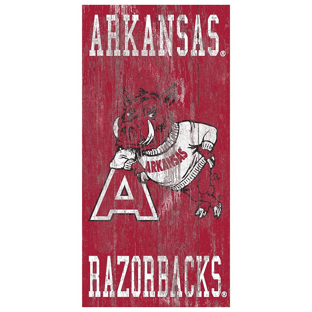 Arkansas Razorbacks Heritage Logo Wall Sign