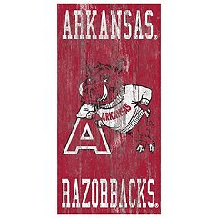 Arkansas Razorbacks Heritage Logo Wall Sign