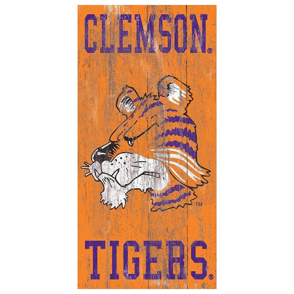 Clemson Tigers Heritage Logo Wall Sign