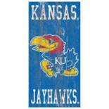 Kansas Jayhawks Heritage Logo Wall Sign